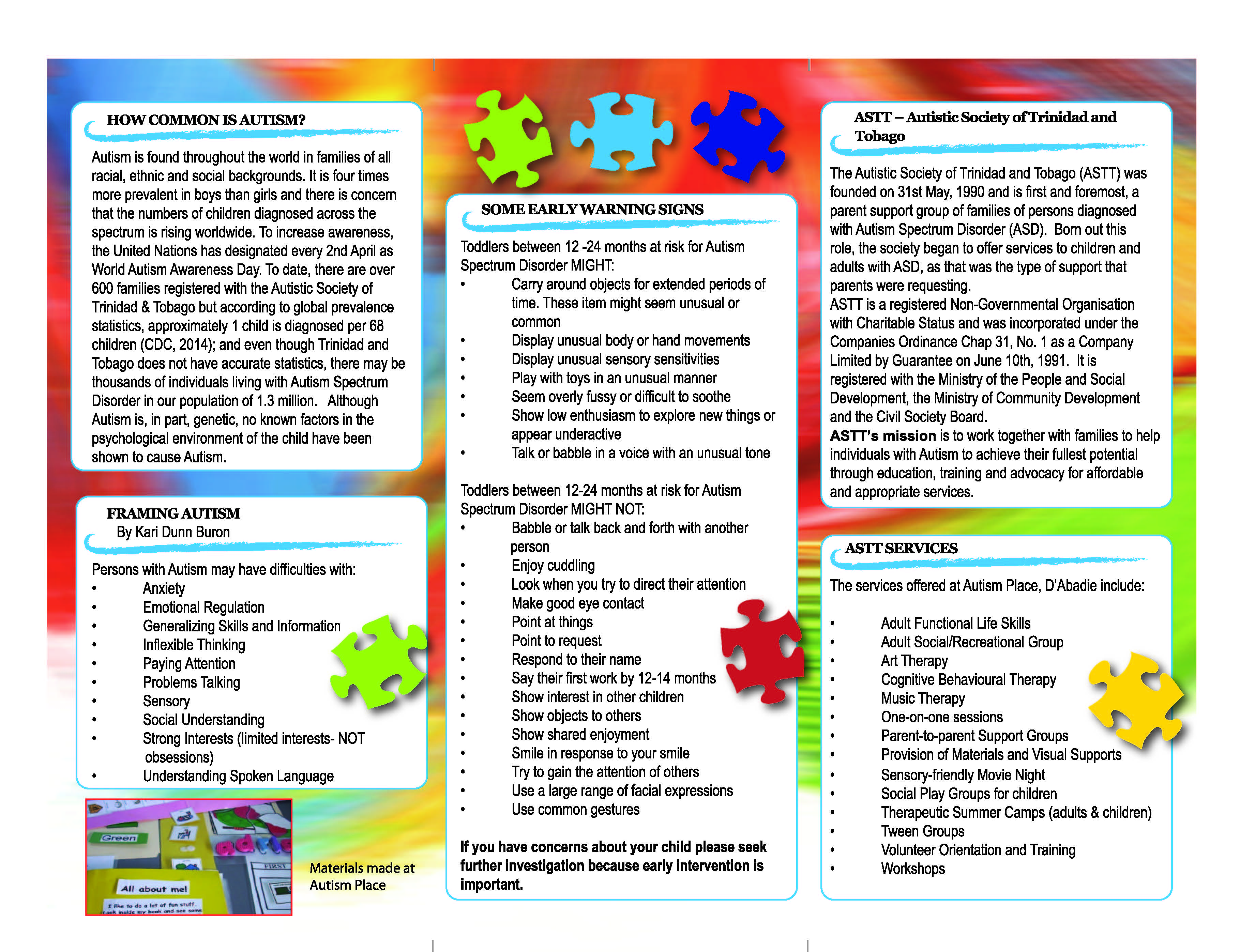 Autism Brochure Autistic Society of Trinidad and Tobago